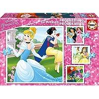 Educa - Princesas Disney, Puzzles Progresivos, Puzzle Infantil de 12,16,20 y 25 Piezas, a Partir de 3 Años (17166)