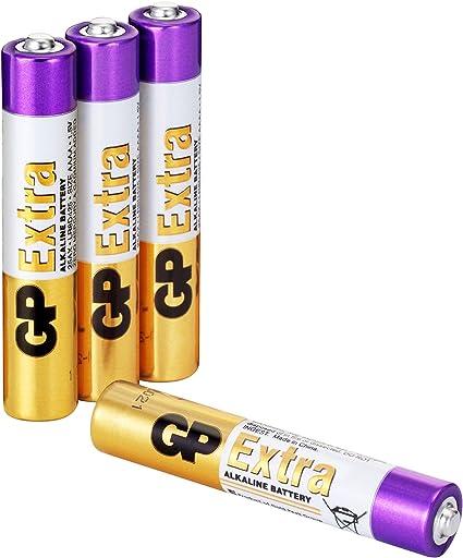 GP - Pack de 4 Pilas AAAA / LR61 / E96 Alcalinas 1,5V | Ideal para ...