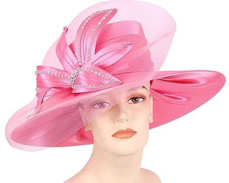 7edc5fb717 Ms Divine Women s Satin Year-Round Dress Church Hats
