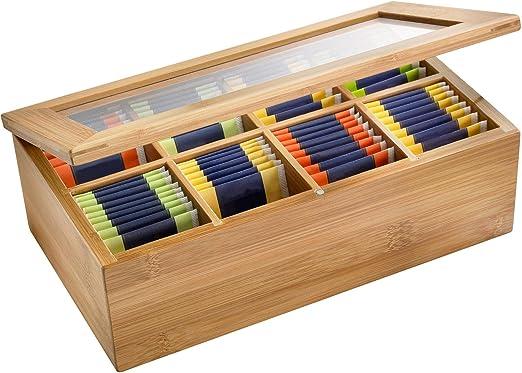 Westmark 15742260 - Caja para bolsitas de té, madera de bambú, 28 ...