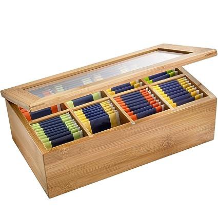Westmark 15742260 - Caja para bolsitas de té (madera de bambú, 33 x 20