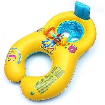 G7N3 Flotador de Juguete Inflable para Madre y Bebé 0-18 meses PVC respetuoso al Medio Ambiente Actividad Familiar (Amarillo): Amazon.es: Juguetes y juegos