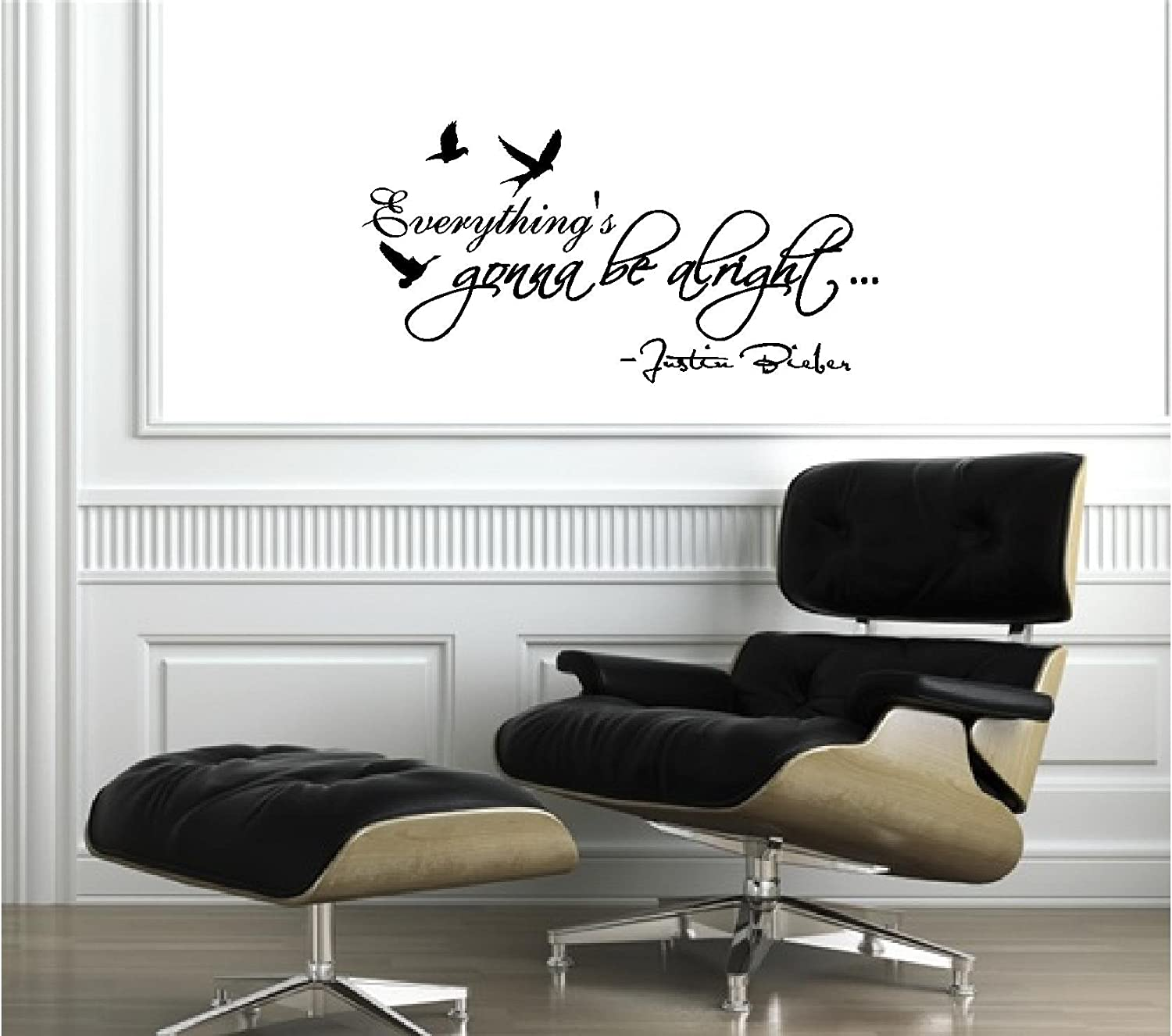 justin bieber everything s gonna be alright cute music wall art justin bieber everything s gonna be alright cute music wall art wall sayings quotes amazon in home kitchen