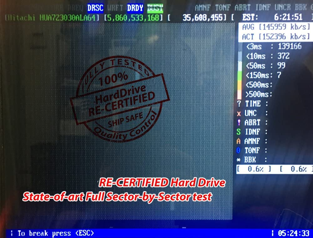 Hitachi Ultrastar A7K2000 2TB w// 1 Year Warranty for PC, Mac, CCTV DVR, RAID, NAS 2TB 32MB Cache 7200RPM SATA 3.0Gb//s Enterprise 3.5in Hard Drive 0F10629 - Renewed