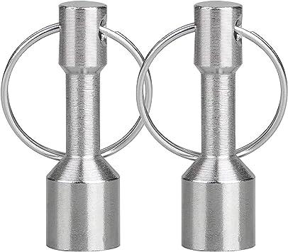 R Anillo de llave TOOGOO 2x Anillo de llave de acero inoxidable con magnetico llavero Plata