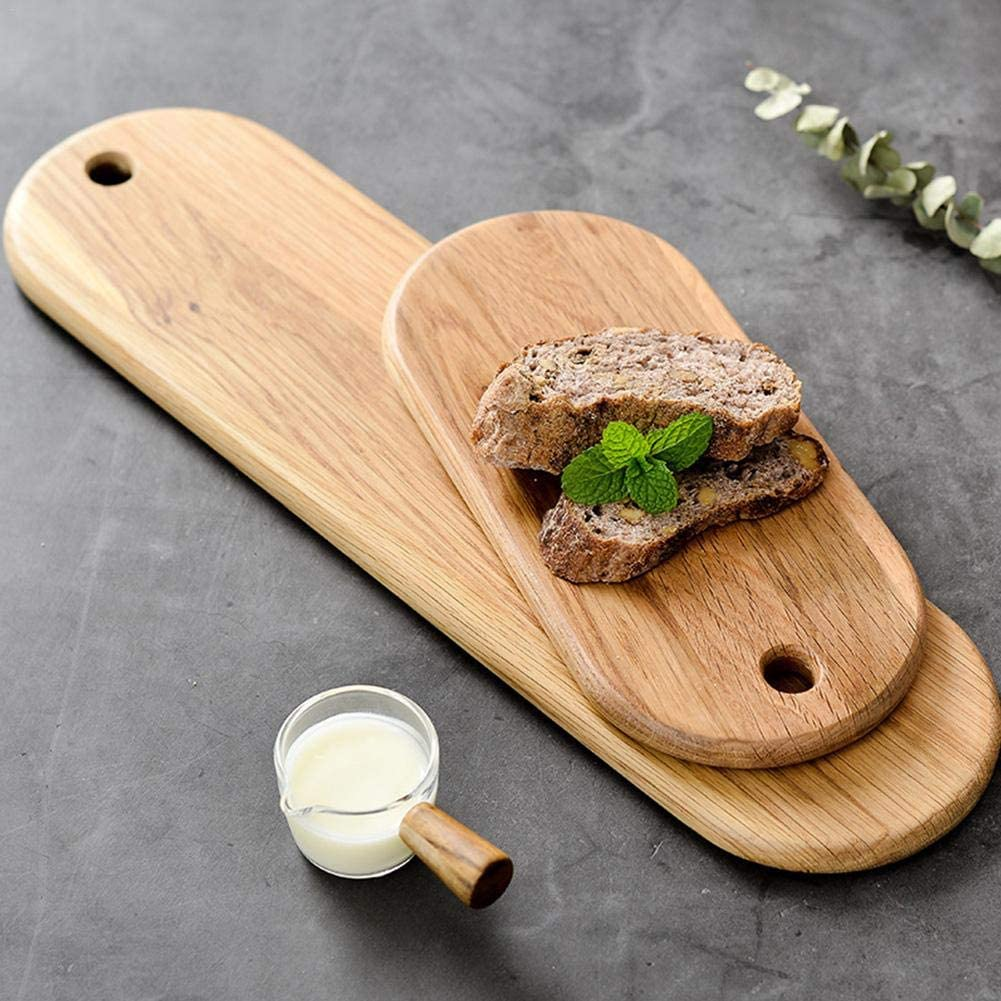 Sue-Supply Vassoio di Pane di Quercia Bianca Piatto di bamb/ù Vassoio di Formaggio Piatti di Formaggio Protezione Ambientale Scanalature Speciali Tagliere Bistecca Sushi Piatto di Legno