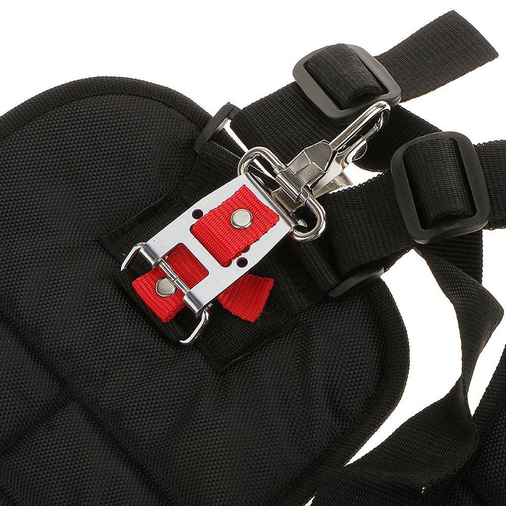 11 x 4,7 x 3,6 Pollici Yardwe Cintura Decespugliatore Nero Cinghia decespugliatore Comfort Doppio Tracolla decespugliatore in Nylon Regolabile Accessori per decespugliatori
