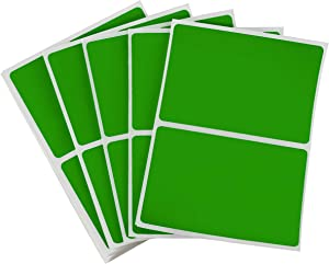ChromaLabel 2 x 3 inch Name Tag Stickers, 150 Labels/Pack, Green