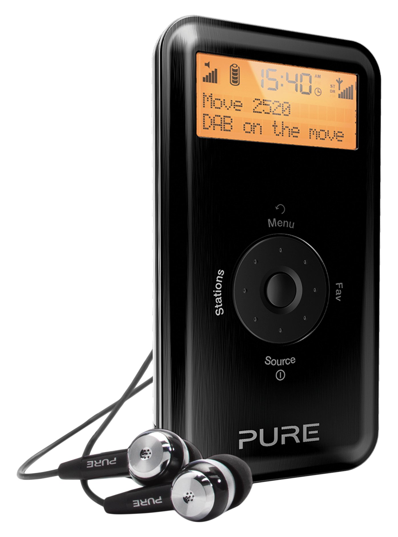 pure move 2520 rechargeable personal digital dab fm radio. Black Bedroom Furniture Sets. Home Design Ideas