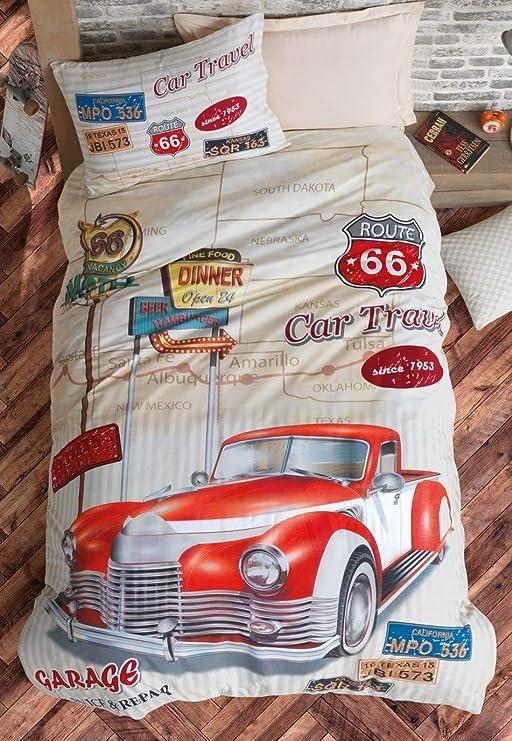Retro Garage Service Repair American Car Reversible Duvet Cover Set