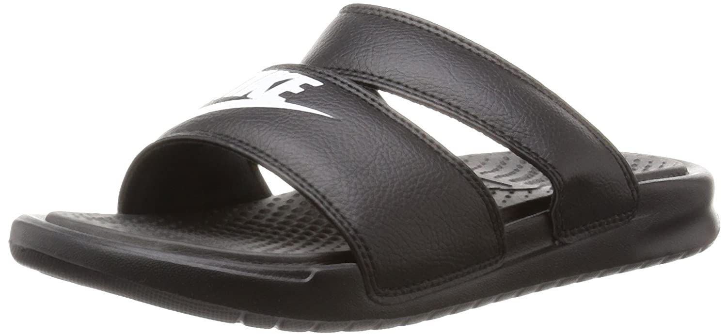 Nike Damen Wmns Benassi Duo Ultra Slide Zehentrenner Blanco (Black / White)