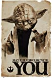 Star Wars Yoda May The Force Poster 24 x 36in