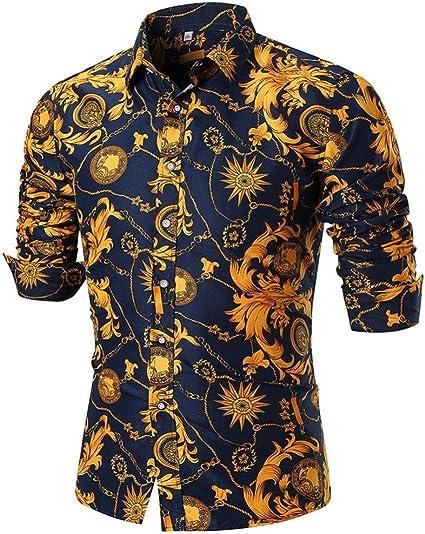 LuckyGirls Camisetas Hombre Verano Negocio Camisa Manga Larga ...