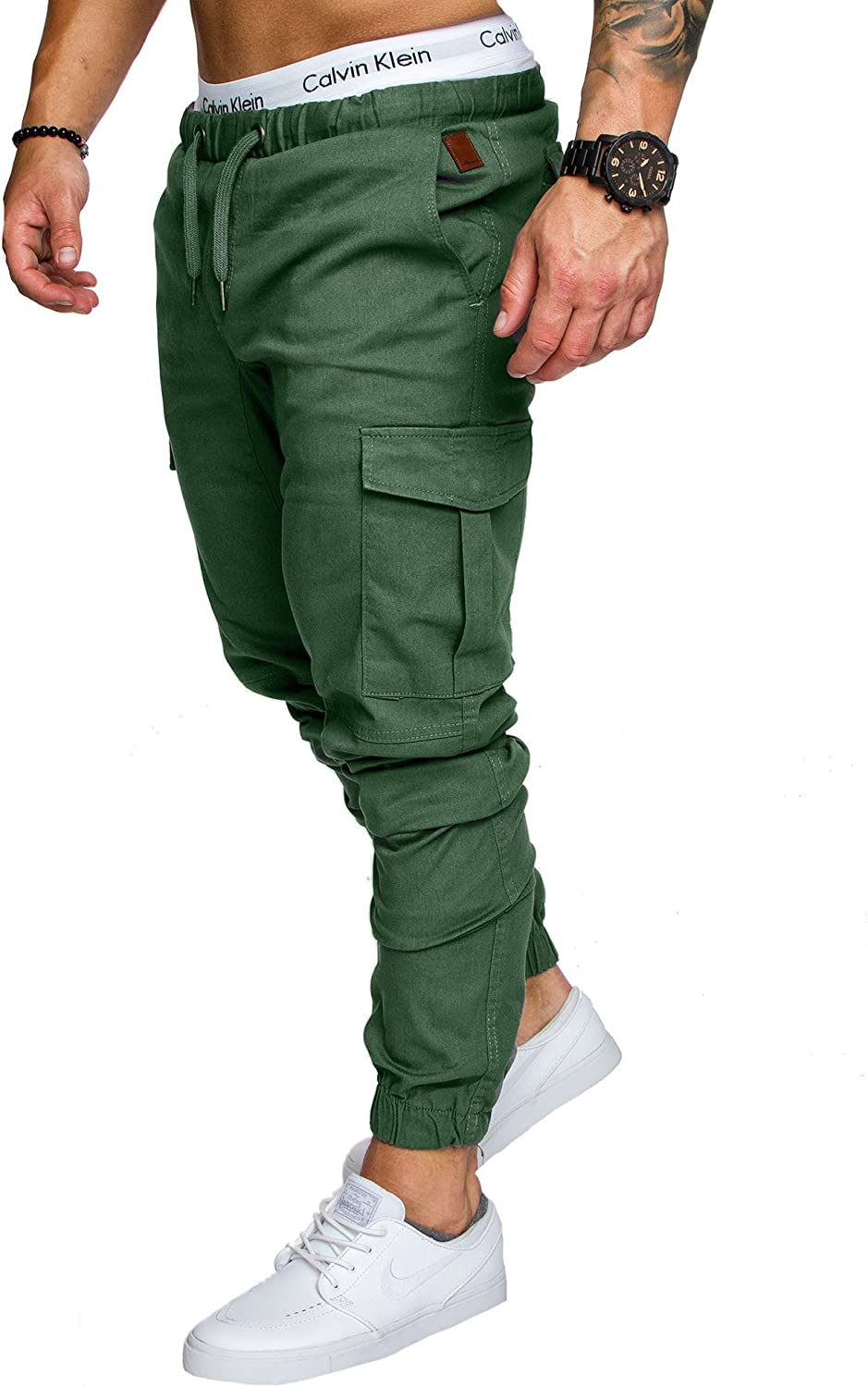 Amaci/&Sons Jogger Cargo Herren Chino Jeans Hose 7001