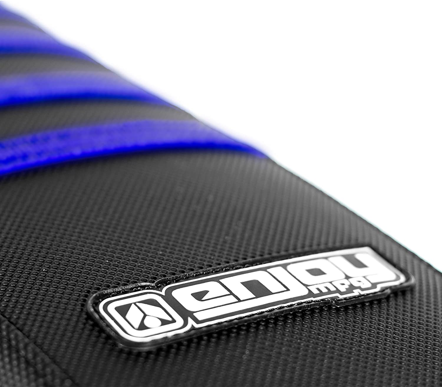 Black Ribs All Blue Enjoy MFG Ribbed Seat Cover for Yamaha 2002-2017 YZ 125//250 Later Models
