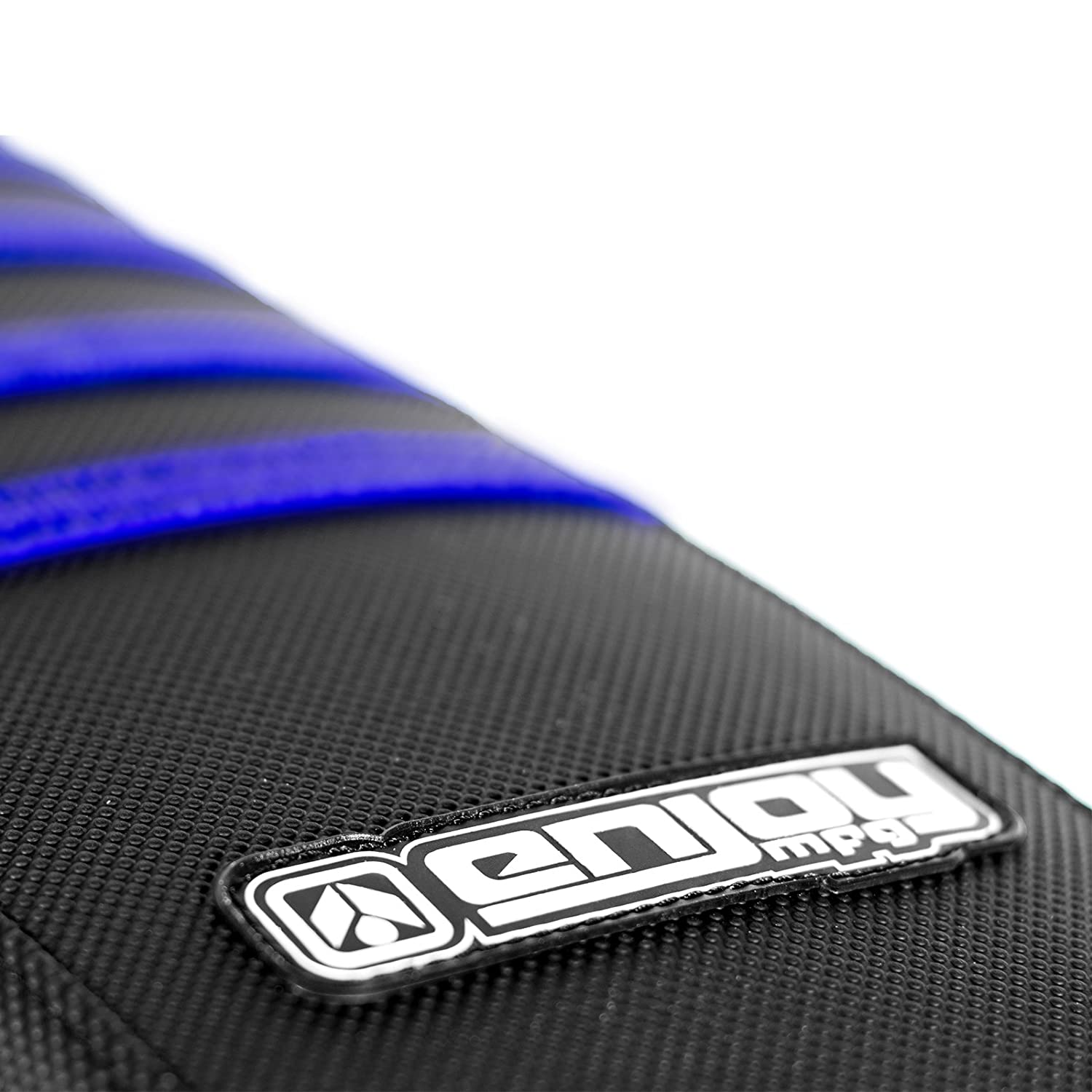 Blue Ribs Enjoy MFG Ribbed Seat Cover for Yamaha 2002-2017 YZ 125//250 All Black
