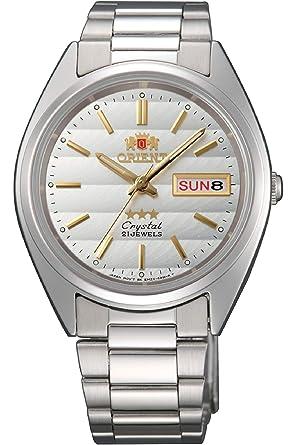 Orient Reloj Analógico para Mujer de Automático con Correa en Acero Inoxidable FAB00007W9: Amazon.es: Relojes
