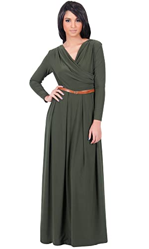KOH KOH Womens Long V-Neck Ful...