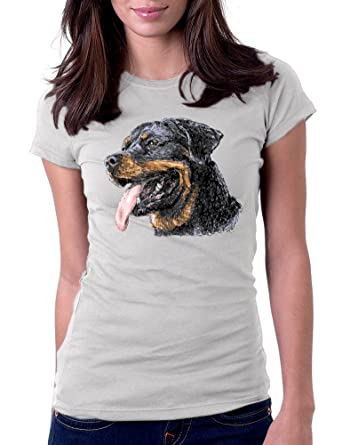 Amazoncom Womens Rottweiler Tee T Shirt Clothing