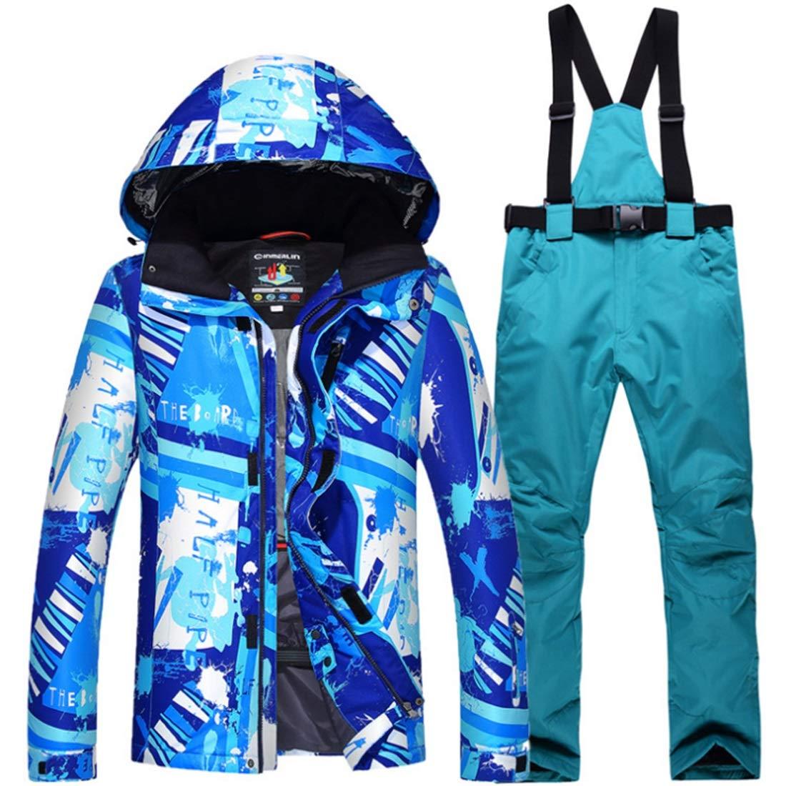 Dhrfyktu Der Tarnungs-Skihosen-Anzug der dichten Männer Winddichtes Wasserdichtes warmes