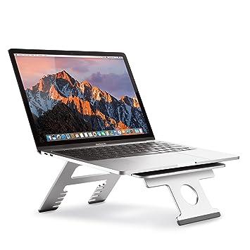 Nllano Soporte Plegable portátil Multifuncional para computadora/Tableta, Soporte Ajustable para portátil de 10