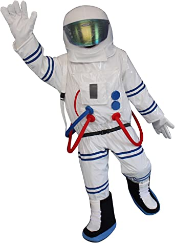 Spaceman Mascot Costume Astronaut Halloween Fancy Party Adult Size Dress Cosplay