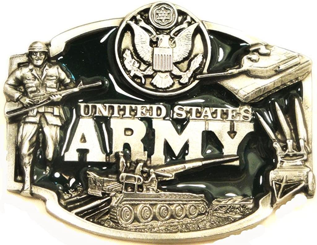 United States US Army Military Western Belt Buckle USA