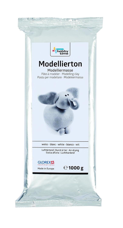 Glorex 61780712/1000/G Argilla da Modellare Bianco 14,5/x 6,5/x 3/cm