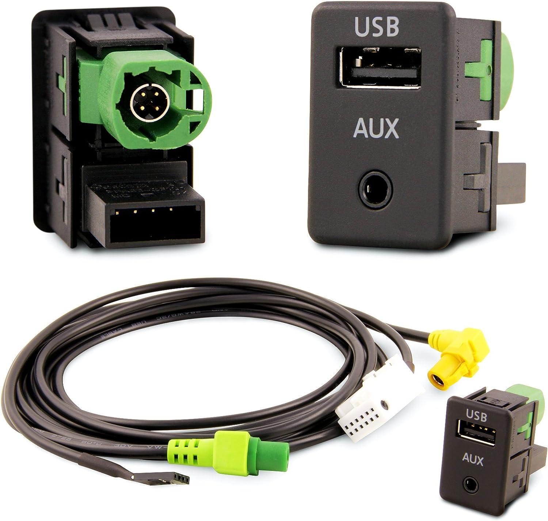 USB Aux Einbau Block Schalter Adapter RCD RNS Radio/´s RNS RCD 300 310 315 510
