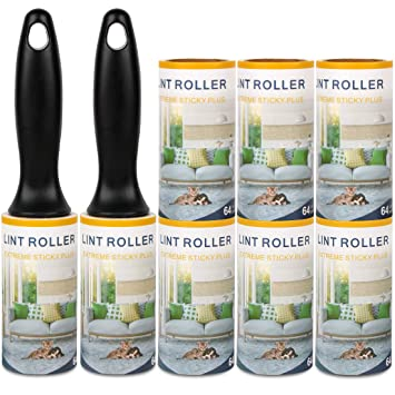 Brilliant 8 Pack Lint Rollers Remover Clothes Roller Ultra Sticky Sturdy Easily Peel Tape Lint Roller Refill Lint Rollers For Pet Hair On Clothes Pants Car Short Links Chair Design For Home Short Linksinfo
