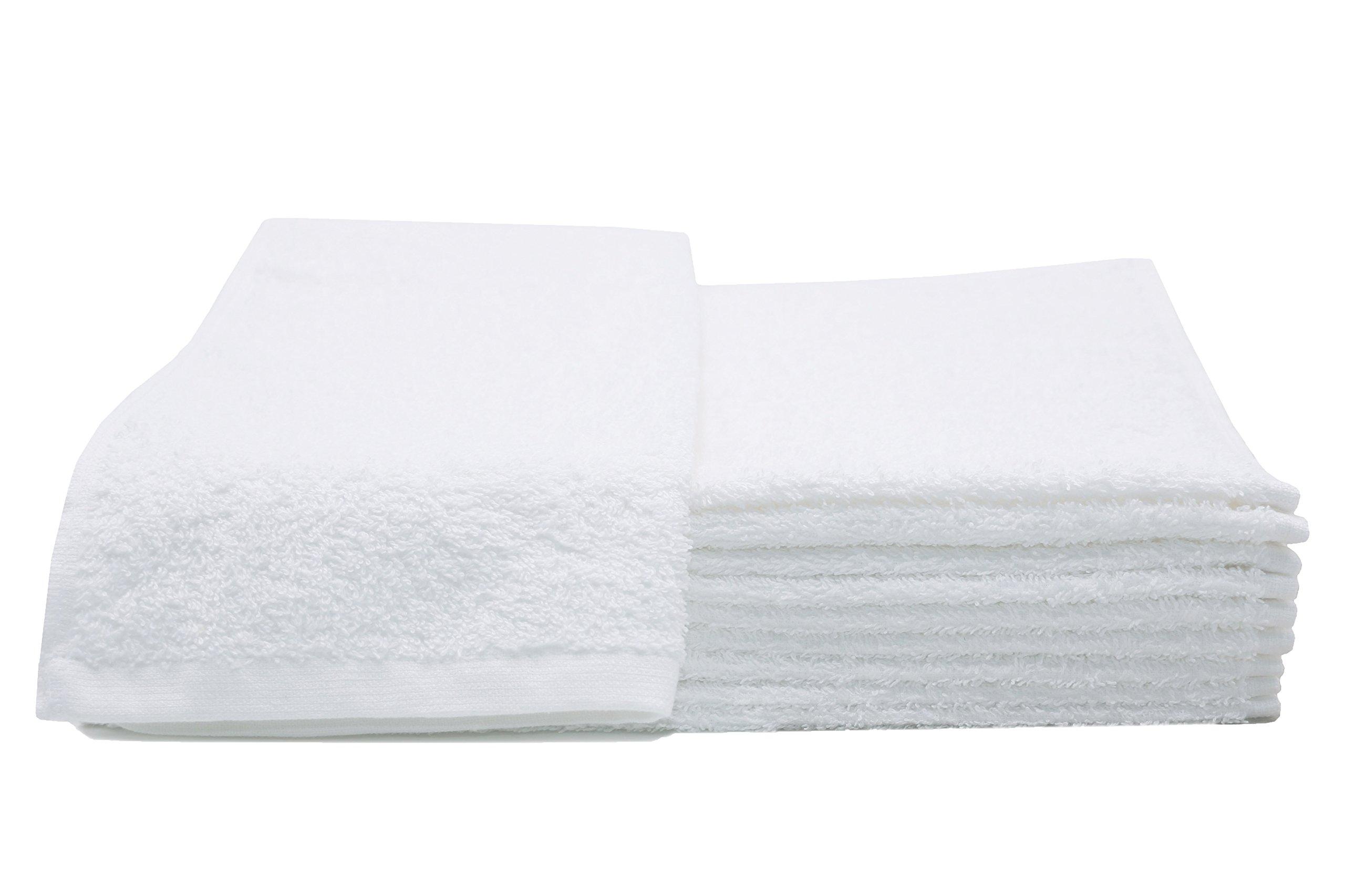 ZOLLNER 10 Toallas de tocador Blancas, 30x50 cm, algodón 100%, en Otra
