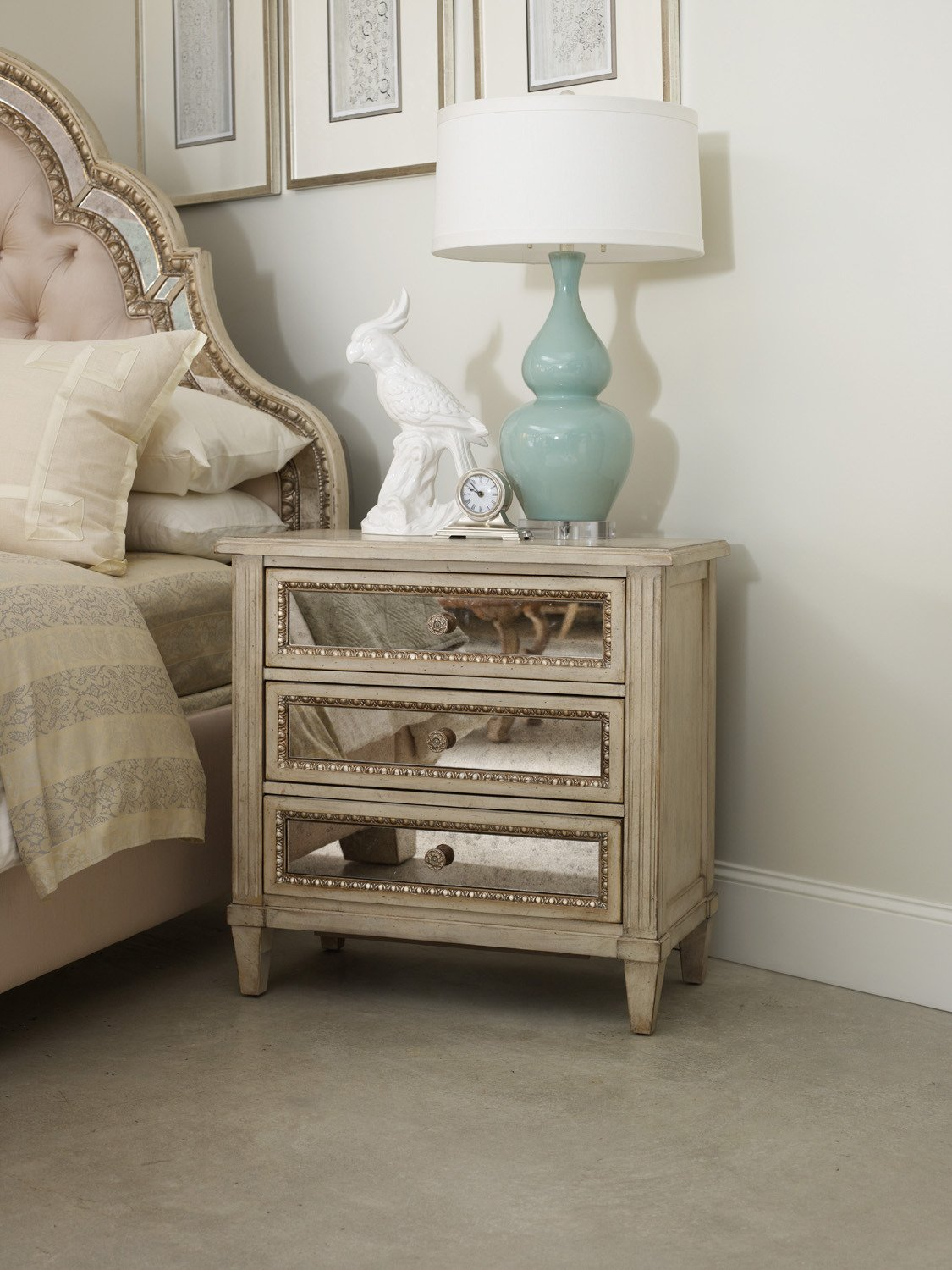 Amazon.com: Hooker Furniture Sanctuary Three Drawer Nightstand In Pearl  Essence: Kitchen U0026 Dining