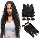 Brailian deep wave hair 4x4 closure 4x13 lace frontal 360 closure and 3 bundles