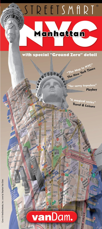 VanDam StreetSmart NYC Karte, Stadt Straßen Karte von Manhattan, NYC, Innenstadt Ausgabe 2017, beschichtete, aufklappbare Reise- und Subway Karte im ... Sehenswürdigkeiten, Museen und Hotels