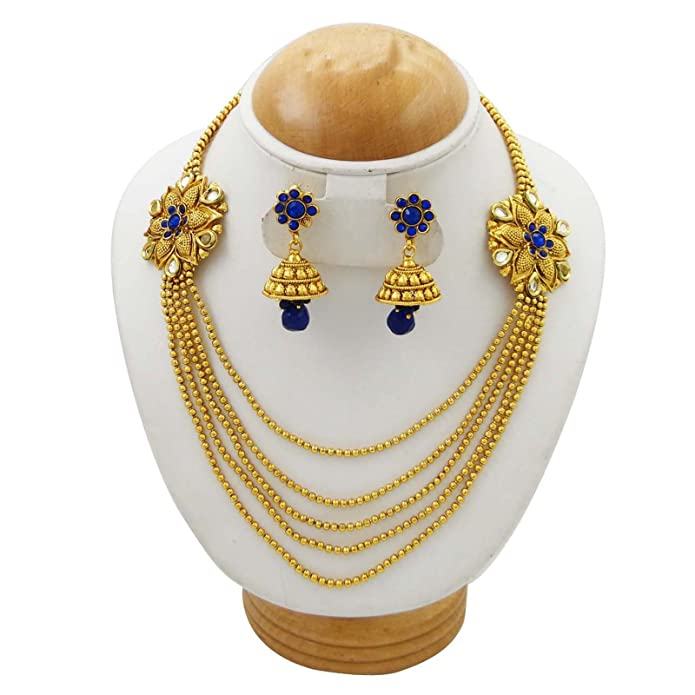 Indian Ethnic Traditional Necklace Set Wedding Gift Bollywood Jewelry Bng1789d Engagement & Wedding