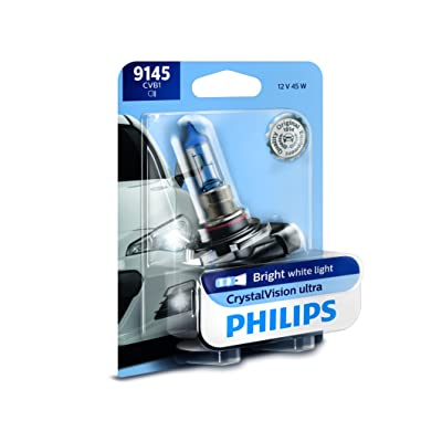 Philips 9145 CrystalVision ultra Upgrade Replacement Bright White Fog Bulb, 1 Pack: Automotive