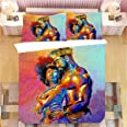 Maylian King African American Lovers Couple Queen 3D Printed 3pcs Bedding Set Duvet Cover Bed Cover Set Bedspreads Home Texti