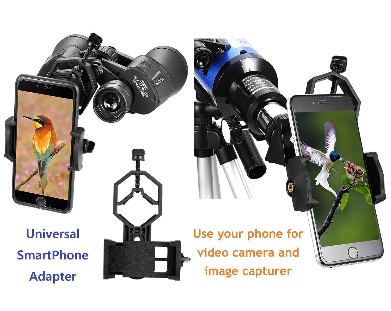 Maxusee Alcance de viaje - 70 mm Refractor Telescopio & 10 x 50 ...
