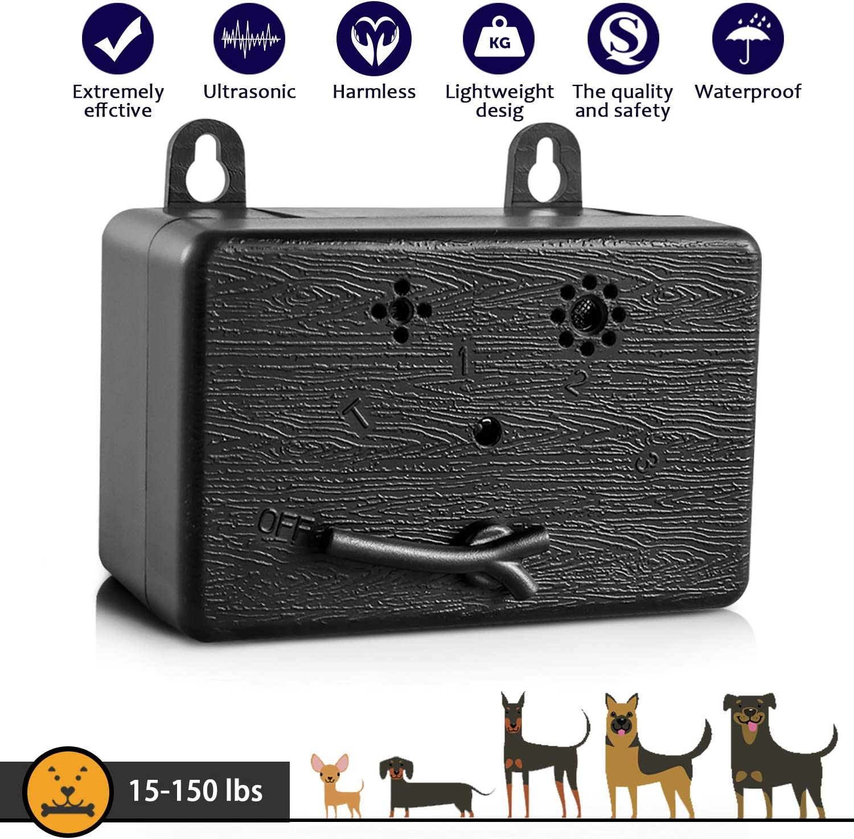 Dog Bark Control Device 50 FT Range Barking Device, Ultrasound Mini Outdoor Dog Bark Control, Anti-bark Deterrent, Training Tools, Indoor/Outdoor Stop Bark Security for Dogs