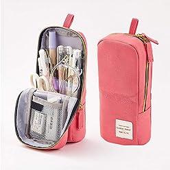 Oyachic Stiftm/äppchen Pencil Case Gitter Federm/äppchen Gro/ße Kapazit/ät Etui Stifte 3 Fach M/äppchen Bleistift Beutel Zipper Schlamperbox Pen Pouch