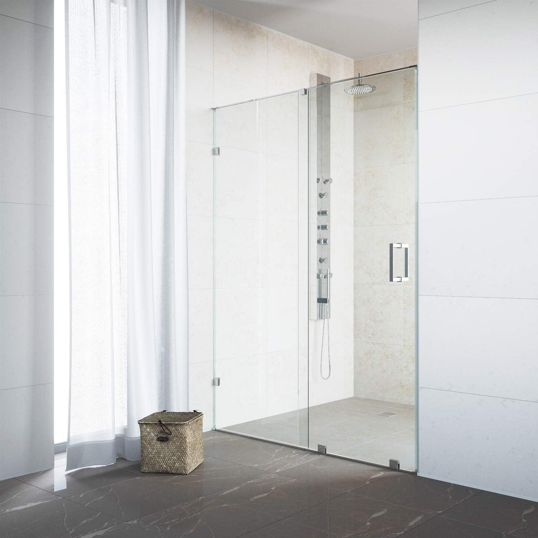 Vigo Ryland 62 A 64-in. Sin marco deslizante para mampara de ducha ...