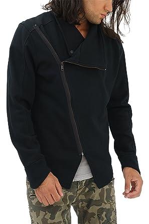 trueprodigy Casual Hombre Marca Sudadera Zip Basico Ropa Retro Vintage Rock Vestir Moda Cuello Redondo Manga Larga Slim Fit Designer Cool Urban Fashion ...