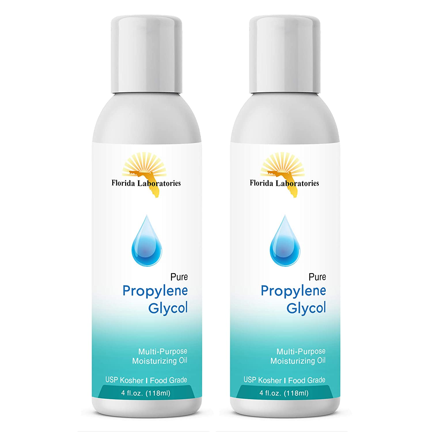 2 Bottles 4 oz of Propylene Glycol USP PG Kosher PG 99.9% Pure Food Grade
