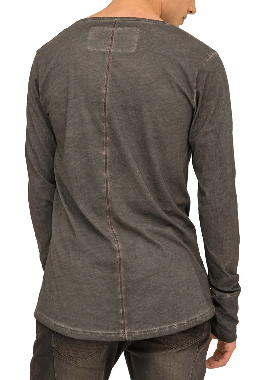 True Prodigy trueprodigy Casual Mens Clothes Funny and Cool Designer Long  Sleeve T-Shirt For Men Plain V-Neck Slim Fit Long Sleeve Anthra Sale: ...