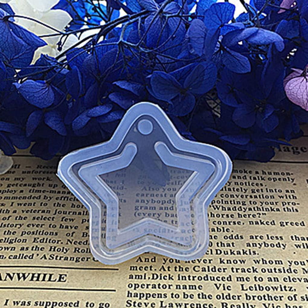 Fengyuanhong 1pcs de la Estrella/Flor Moldes Transparentes joyería epoxi de la Luna de silicio/Molde del Molde de Resina de epoxy de la joyería Pendiente de DIY Que Hace