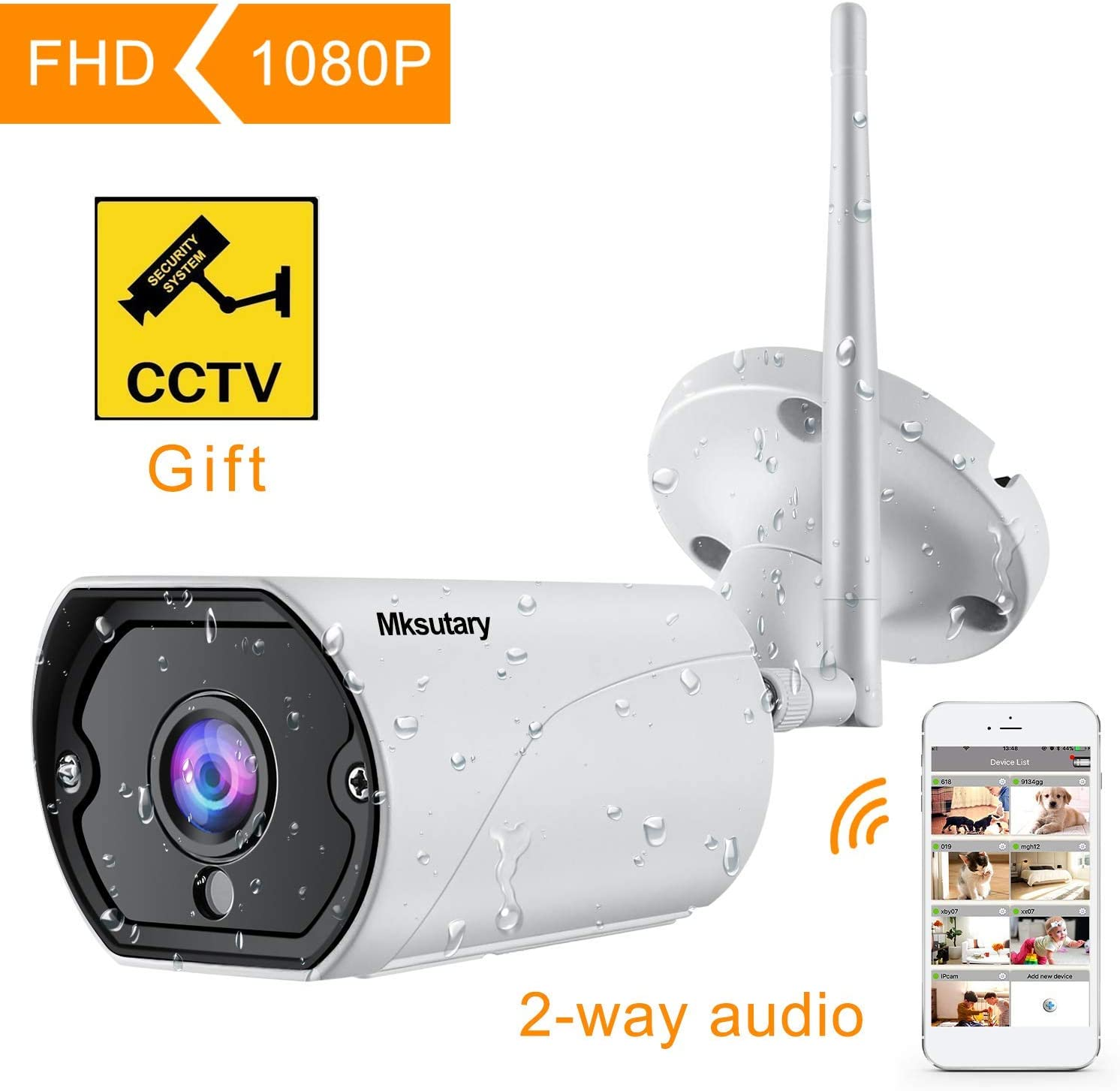 Cámara IP Exterior, Camara IP WiFi 1080p, Cámara Vigilancia ...