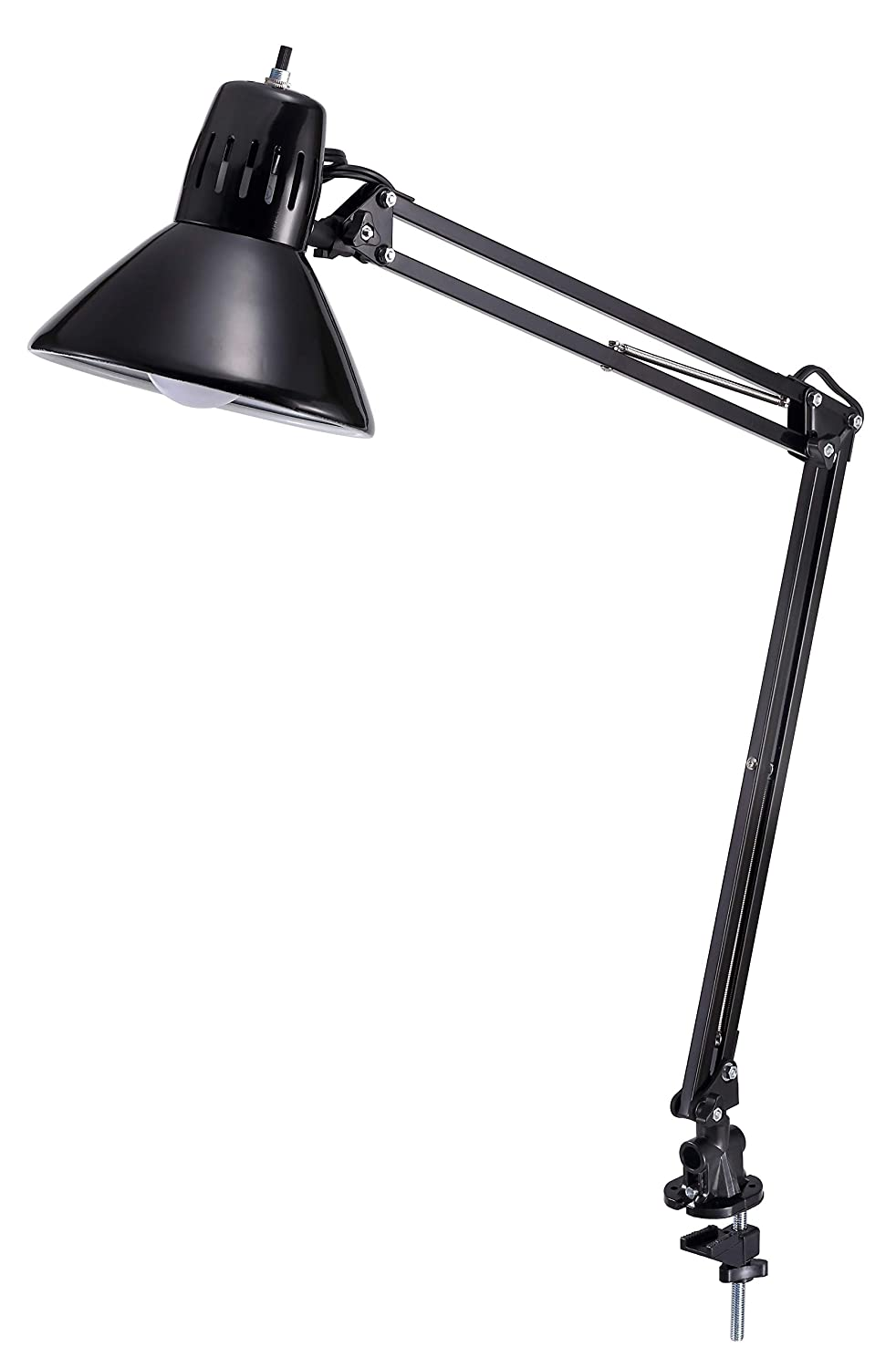 "Bostitch Office LED Swing Arm Desk Lamp with Clamp Mount, 36"" Reach, Includes LED Bulb"