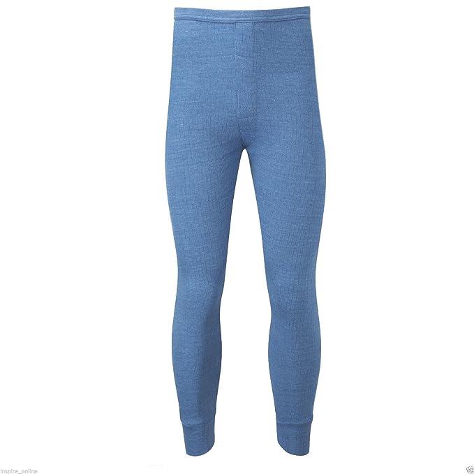Pantalón largo térmico de invierno John Thermals para hombre, de la