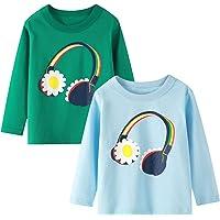 Camiseta de Manga Larga para niñas, Camiseta de algodón, Informal, cálida, con gráfico de Unicornio, Dibujos Animados…