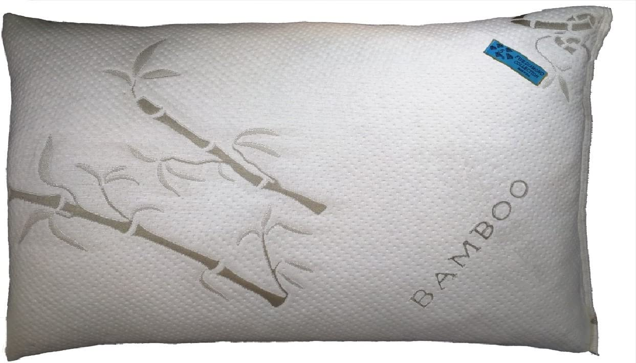 Five Diamond Collection Bamboo Covered Shredded Memory Foam Pillow,Hypoallergenic and Dust Mite Resistant,100% Washable, Made in USA, (King)